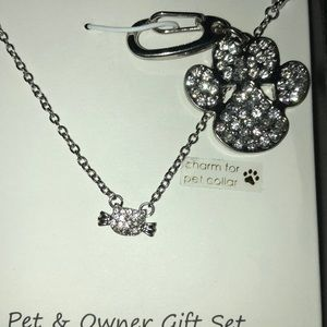 Jewelry - Necklace and Pet charm set